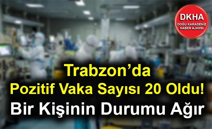 Trabzon'da Pozitif Vaka Sayısı 20 Oldu! Bir Kişinin Durumu Ağır