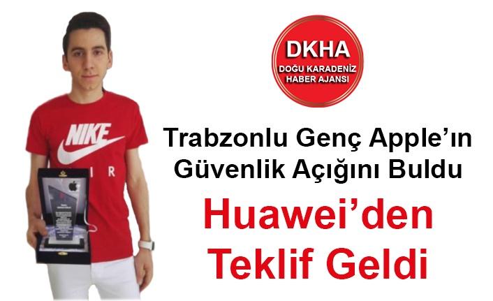 Trabzonlu Genç Apple'ın Güvenlik Açığını Buldu Huawei'den Teklif Geldi