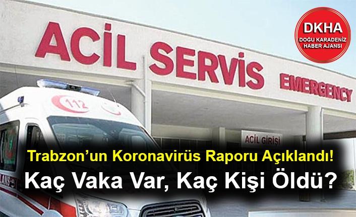 Trabzon'un Koronavirüs Raporu Açıklandı! Kaç Vaka Var, Kaç Kişi Öldü?