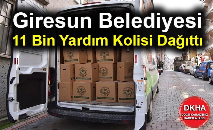 Giresun Belediyesi 11 Bin Yardım Kolisi Dağıttı