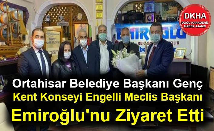 Ortahisar Belediye Başkanı Genç Kent Konseyi Engelli Meclis Başkanı Emiroğlu'nu Ziyaret Etti