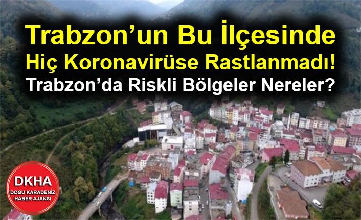Trabzon'un Bu İlçesinde Hiç Koronavirüse Rastlanmadı! Trabzon'da Riskli Bölgeler Nereler?