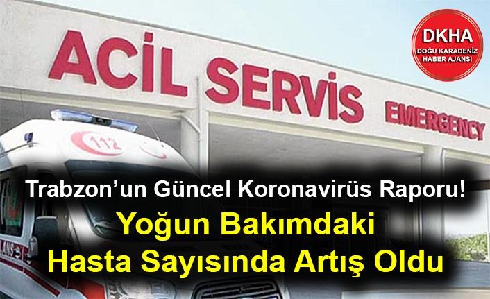 Trabzon'un Güncel Koronavirüs Raporu! Yoğun Bakımdaki Hasta Sayısı Arttı