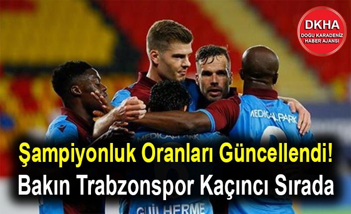 Şampiyonluk Oranları Güncellendi! Bakın Trabzonspor Kaçıncı Sırada