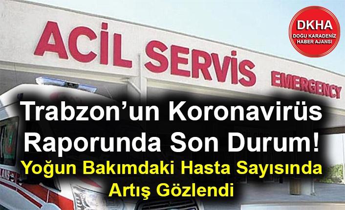 Trabzon'un Koronavirüs Raporunda Son Durum! Yoğun Bakımdaki Hasta Sayısında Artış Gözlendi
