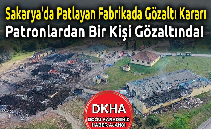 Sakarya'da Patlayan Fabrikada Gözaltı Kararı