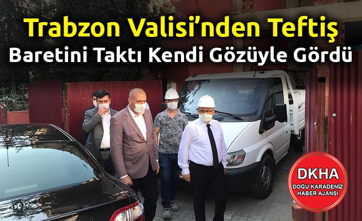 Trabzon Valisi Meydan'daki tadilatta olan Gençlik Merkezi Binasında incelemelerde bulundu.