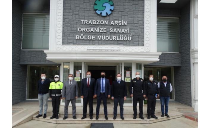 Trabzon İl Emniyet Müdürü Metin Alper Trabzon Arsin OSB'yi Ziyaret Etti