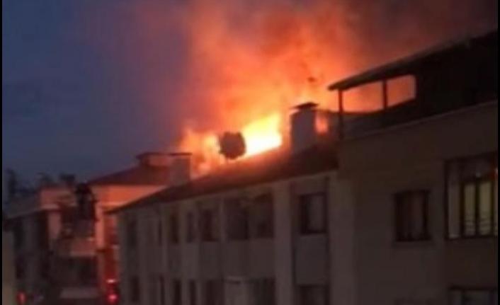 Trabzon İnönü Mahallesi'nde Yangın!