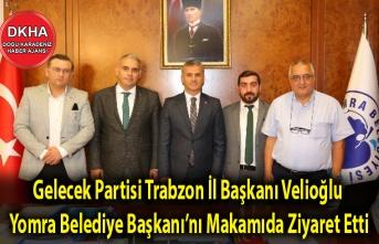 Gelecek Partisi Trabzon İl Başkanı Velioğlu, Yomra Belediye Başkanı Bıyık'ı Makamıda Ziyaret Etti