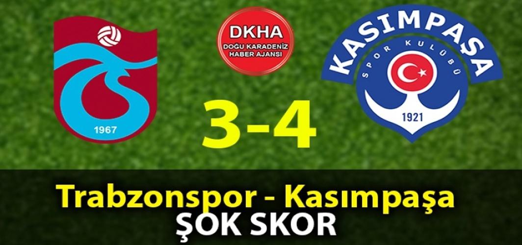 Trabzonspor-Kasımpaşa Maçı 3-4 Bitti