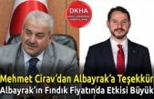 Mehmet Cirav'dan Albayrak'a Teşekkür