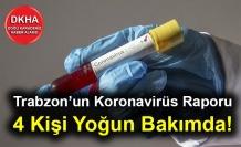 Trabzon'un Koronavirüs Raporu! 4 Kişi Yoğun Bakımda
