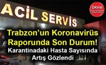 Trabzon'un Koronavirüs Raporunda Son Durum! Karantinadaki Hasta Sayısında Artış Gözlendi