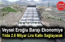 Veysel Eroğlu Barajı Ekonomiye Yılda 2.8 Milyar Lira Katkı Sağlayacak