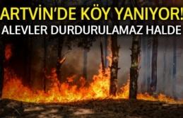 ARTVİN'DE KÖY YANIYOR!