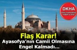 Ayasofya'nın Camii Olmasına Engel Kalmadı!