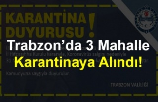Trabzon'da 3 Mahalle Karantinaya Alındı!