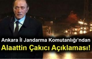 Ankara İl Jandarma Komutanlığı'ndan Alaattin...