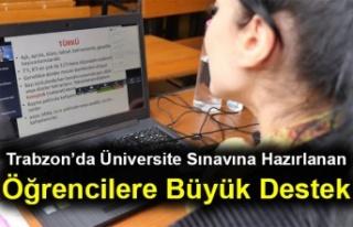 Trabzon'da Üniversite Sınavına Hazırlanan Öğrencilere...
