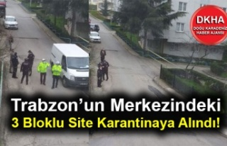 Trabzon'un Merkezindeki 3 Bloklu Site Karantinaya...