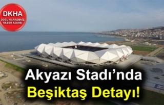 Akyazı Stadı'nda Beşiktaş Detayı!