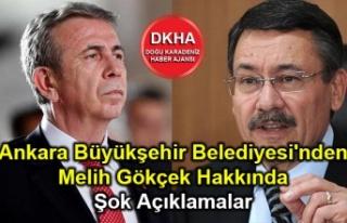 Ankara Büyükşehir Belediyesi'nden Melih Gökçek...