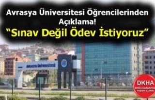 Avrasya Üniversitesi Öğrencilerinden Açıklama...