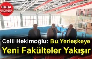 Celil Hekimoğlu: Bu Yerleşkeye Yeni Fakülteler...