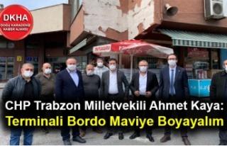 CHP Trabzon Milletvekili Ahmet Kaya: Terminali Bordo...