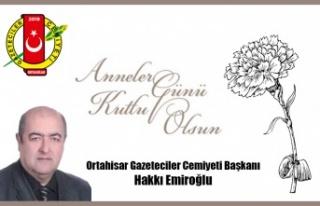 Ortahisar Gazeteciler Başkanı Hakkı Emiroğlu'ndan...