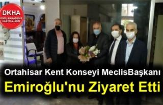 Ortahisar Kent Konseyi Meclis Başkanı Emiroğlu''nu...