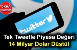 Tek Tweetle Piyasa Değeri 14 Milyar Dolar Düştü!