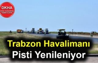 Trabzon Havalimanı Pisti Yenileniyor