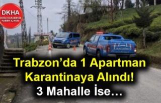 Trabzon'da 1 Apartman Karantinaya Alındı! 3 Mahalle...