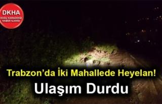 Trabzon'da İki Mahallede Heyelan! Ulaşım Kapandı