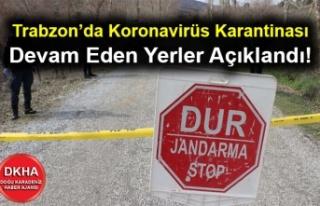 Trabzon'da Koronavirüs Karantinası Devam Eden...
