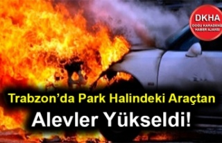 Trabzon'da Sokak Ortasındaki Araçtan Alevler Yükseldi!