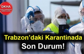 Trabzon'daki Karantinada Son Durum! 161 Kişi...