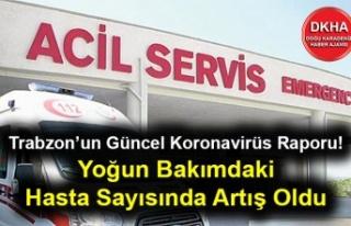 Trabzon'un Güncel Koronavirüs Raporu! Yoğun Bakımdaki...