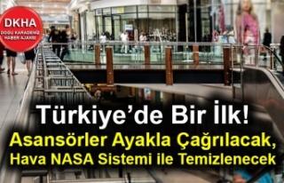 Türkiye'de bir ilk! Asansörler ayakla çağrılacak,...