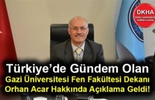 Türkiye'de Gündem Olan Gazi Üniversitesi Fen...