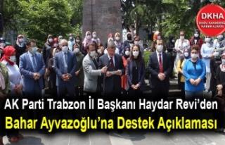 AK Parti Trabzon'dan Bahar Ayvazoğlu'na Destek...