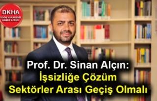 Prof. Dr. Sinan Alçın: İşsizliğe çözüm sektörler...