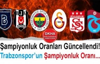 Şampiyonluk Oranları Güncellendi! Trabzonspor'un...