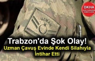 Trabzon'da Şok Olay! Uzman Çavuş Evinde Kendi...