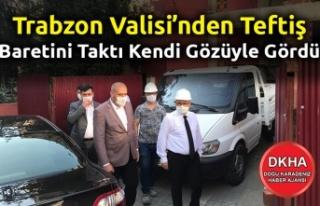 Trabzon Valisi Meydan'daki tadilatta olan Gençlik...