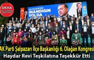 AK Parti Şalpazarı İlçe Başkanlığı 6. Olağan...