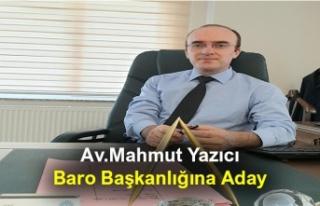 Av.Mahmut Yazıcı Baro Başkanlığına Aday