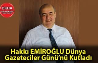 Hakkı Emiroğlu Gazeteciler Günü'nü Kutladı